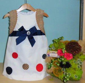 Vestido lunares  -  Tallas 3a, 4a,5a