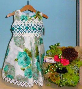 Vestido flores verde  -  Tallas 2a, 3a, 4a, 5a