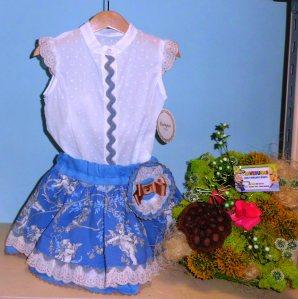 Conjunto falda corta  -  Tallas 5a, 6a